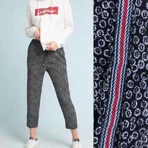 Ett:twa Anthropologie Floral Jogger Pants